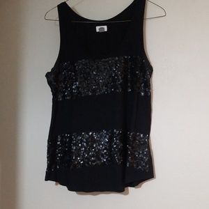 Old Navy striped sequin tank top